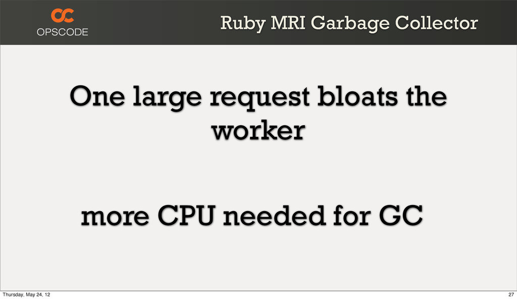 Ruby MRI Garbage Collector One large request bl...