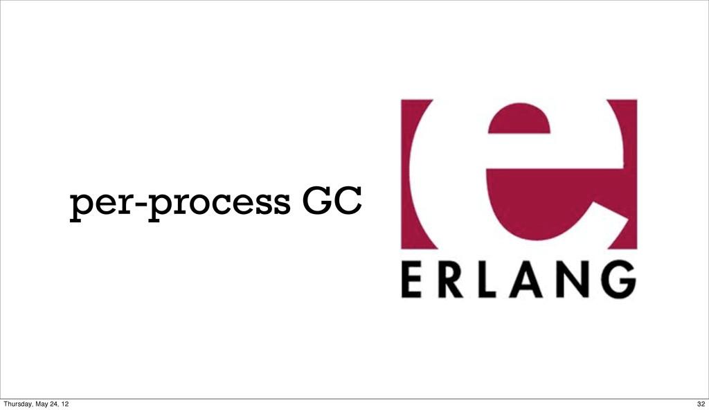 per-process GC 32 Thursday, May 24, 12