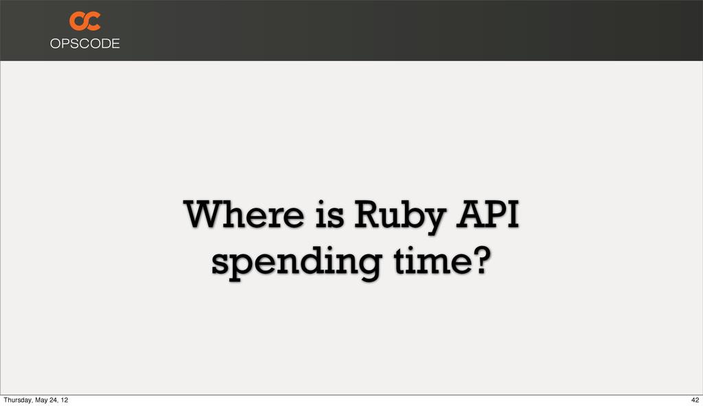 Where is Ruby API spending time? 42 Thursday, M...