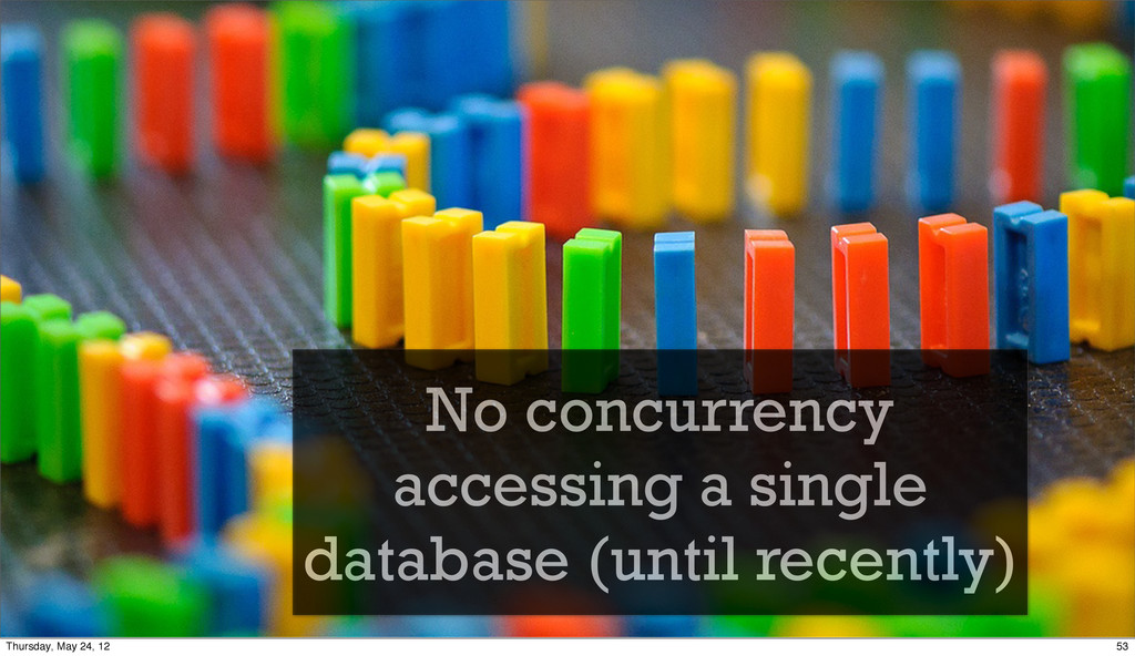 No concurrency accessing a single database (unt...