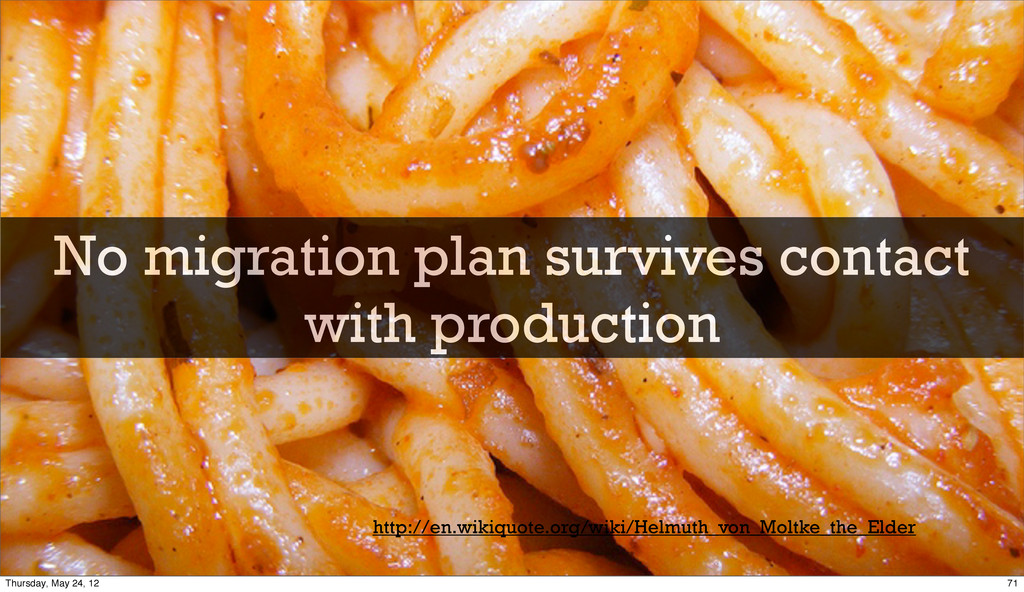 No migration plan survives contact with product...