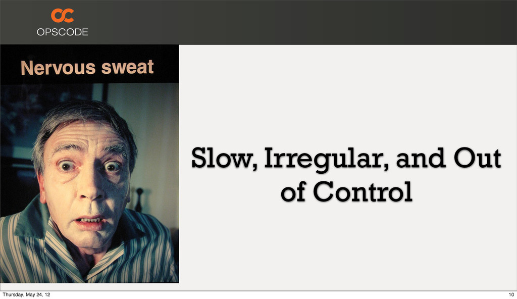 Slow, Irregular, and Out of Control 10 Thursday...