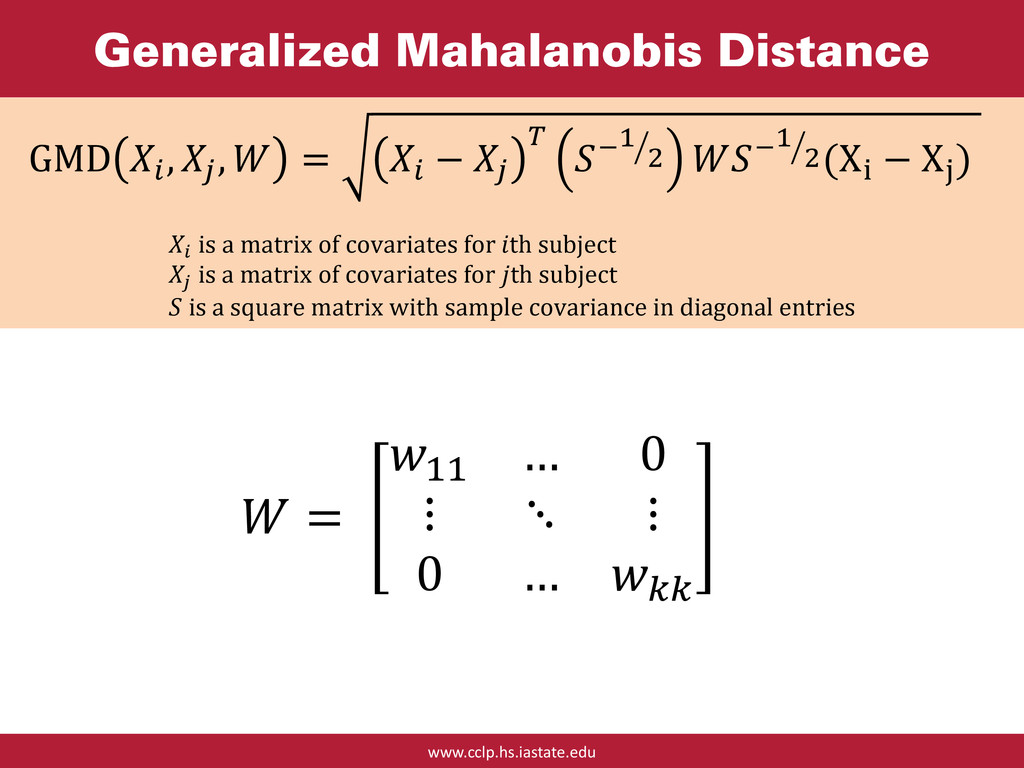 www.cclp.hs.iastate.edu Generalized Mahalanobis...