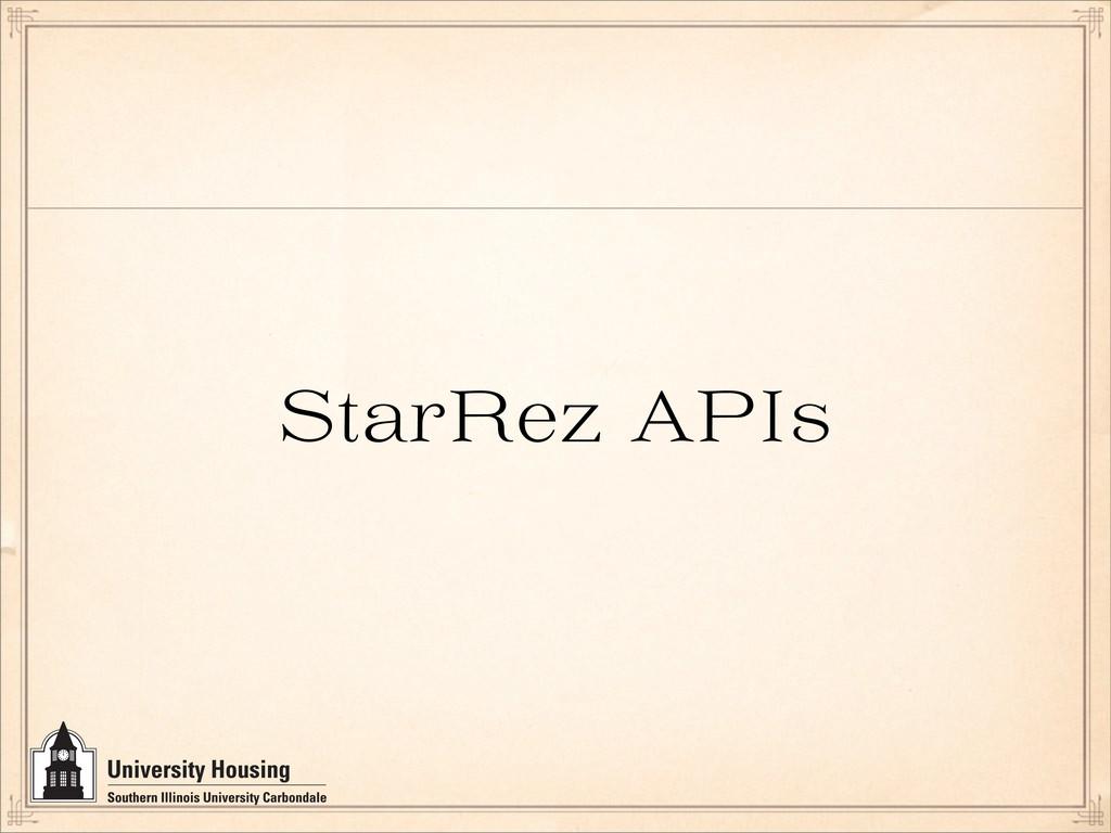 StarRez API