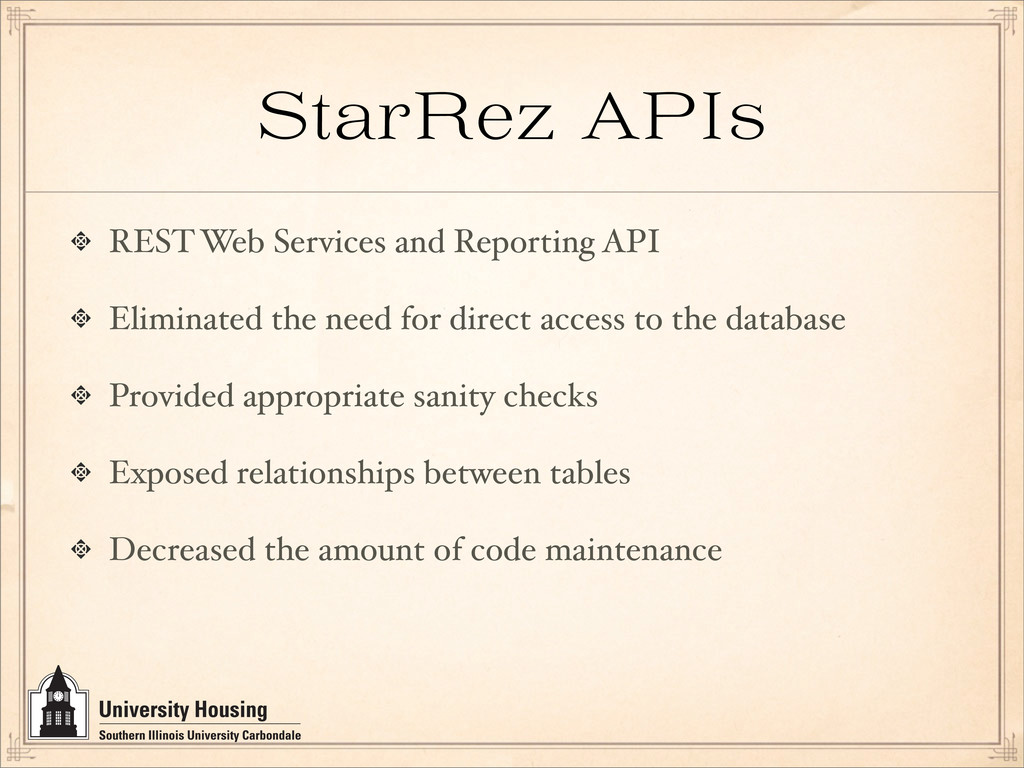 StarRez API REST Web Services and Reporting API...
