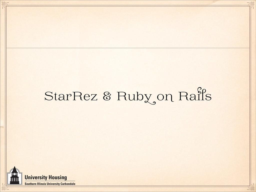StarRez & Rub o Ra