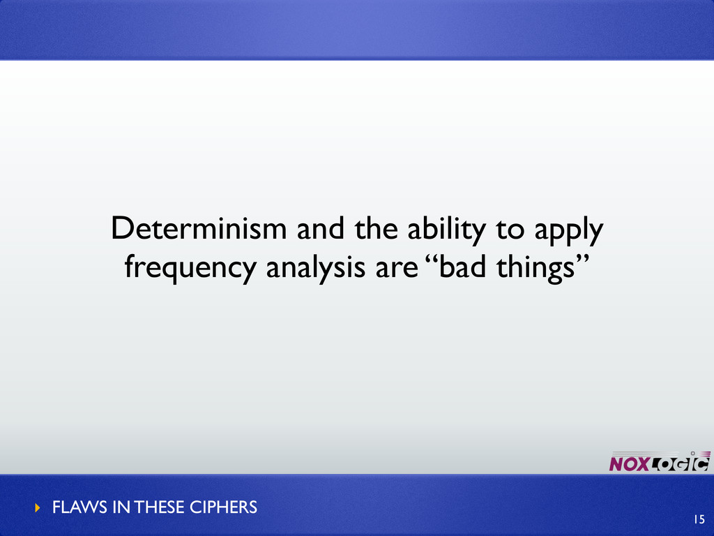 Determinism and the ability to apply frequency ...