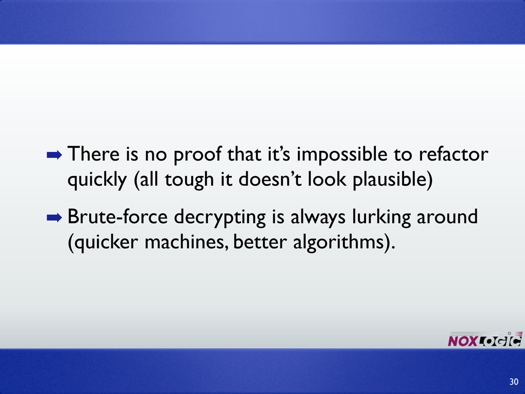 ➡ There is no proof that it's impossible to ref...