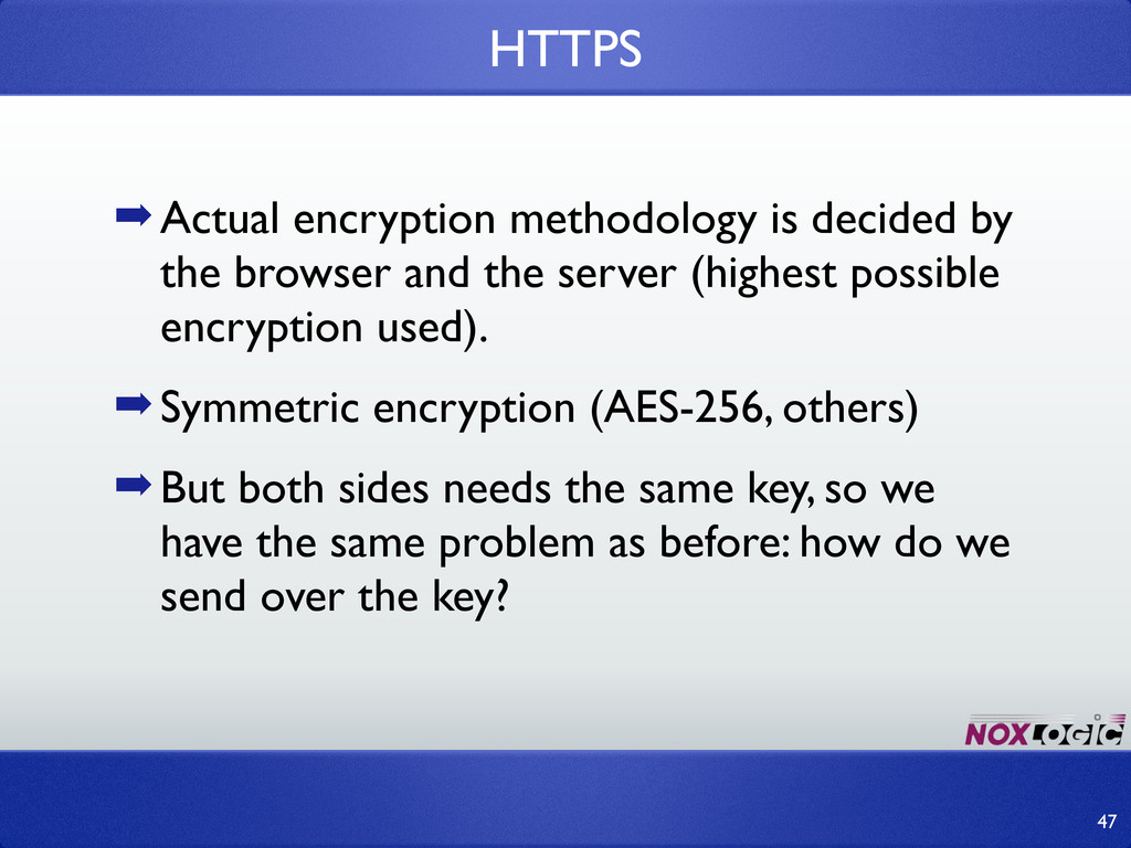 ➡Actual encryption methodology is decided by th...