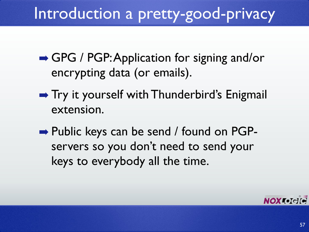 ➡ GPG / PGP: Application for signing and/or enc...