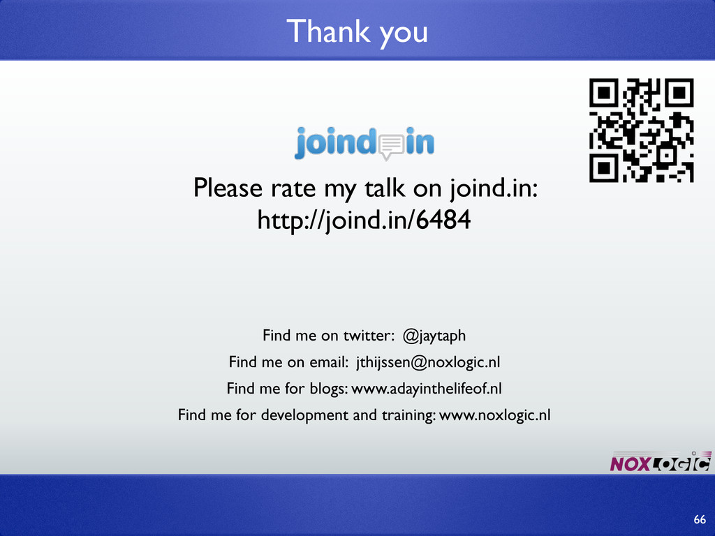 Please rate my talk on joind.in: http://joind.i...