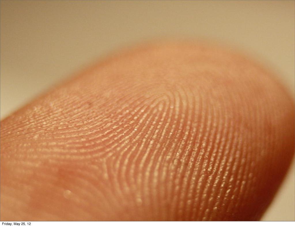 Fingerprinting Friday, May 25, 12