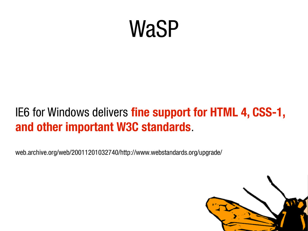 WaSP IE6 for Windows delivers fine support for ...
