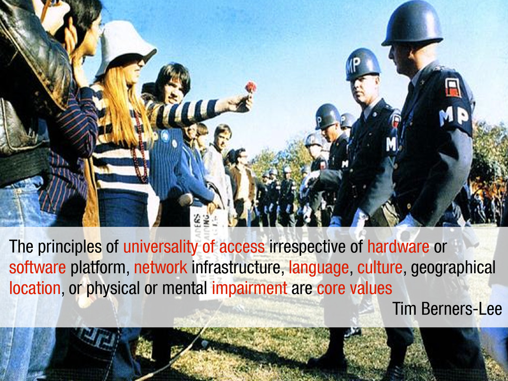 The principles of universality of access irresp...