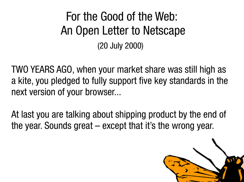 For the Good of the Web: An Open Letter to Nets...