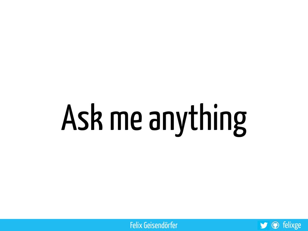 felixge Ask me anything Felix Geisendörfer