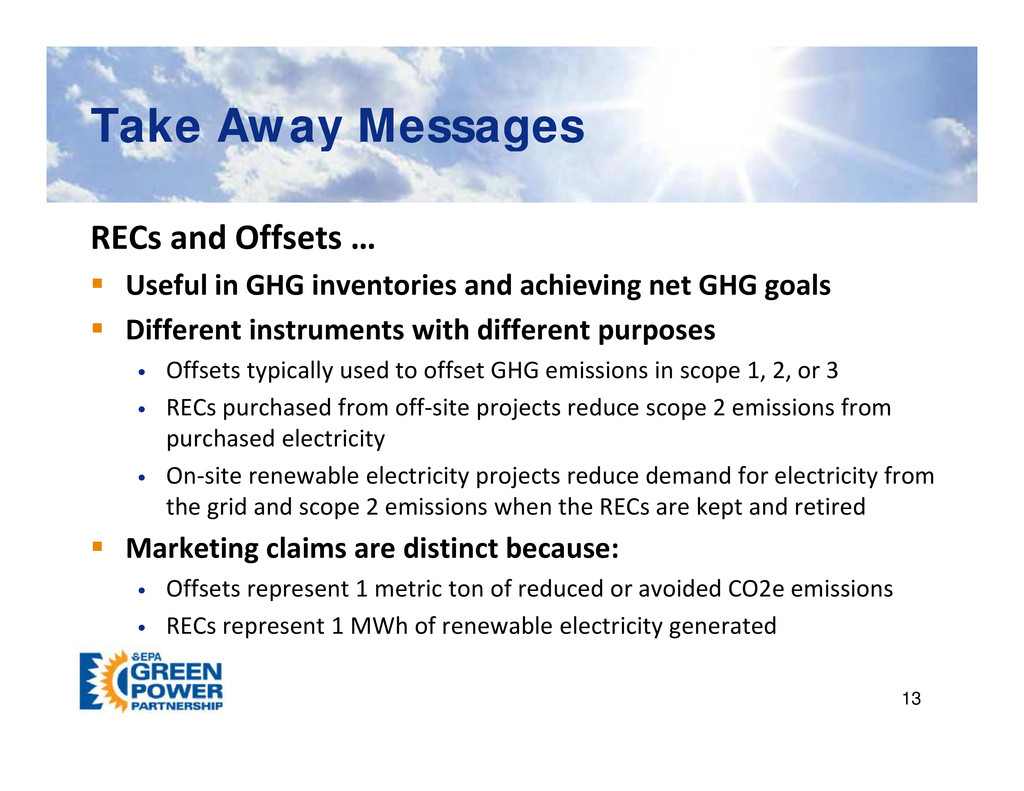 Take Away Messages Take Away Messages y g y g R...