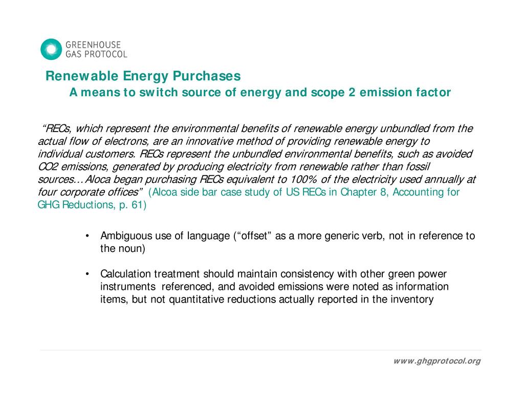 Renewable Energy Purchases Renewable Energy Pur...