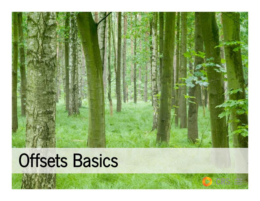 Offsets Basics Offsets Basics