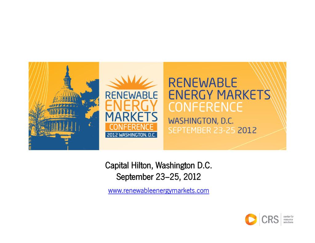 Capital Hilton Washington D C www.renewableener...