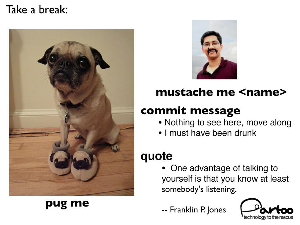 pug me mustache me <name> commit message • Noth...
