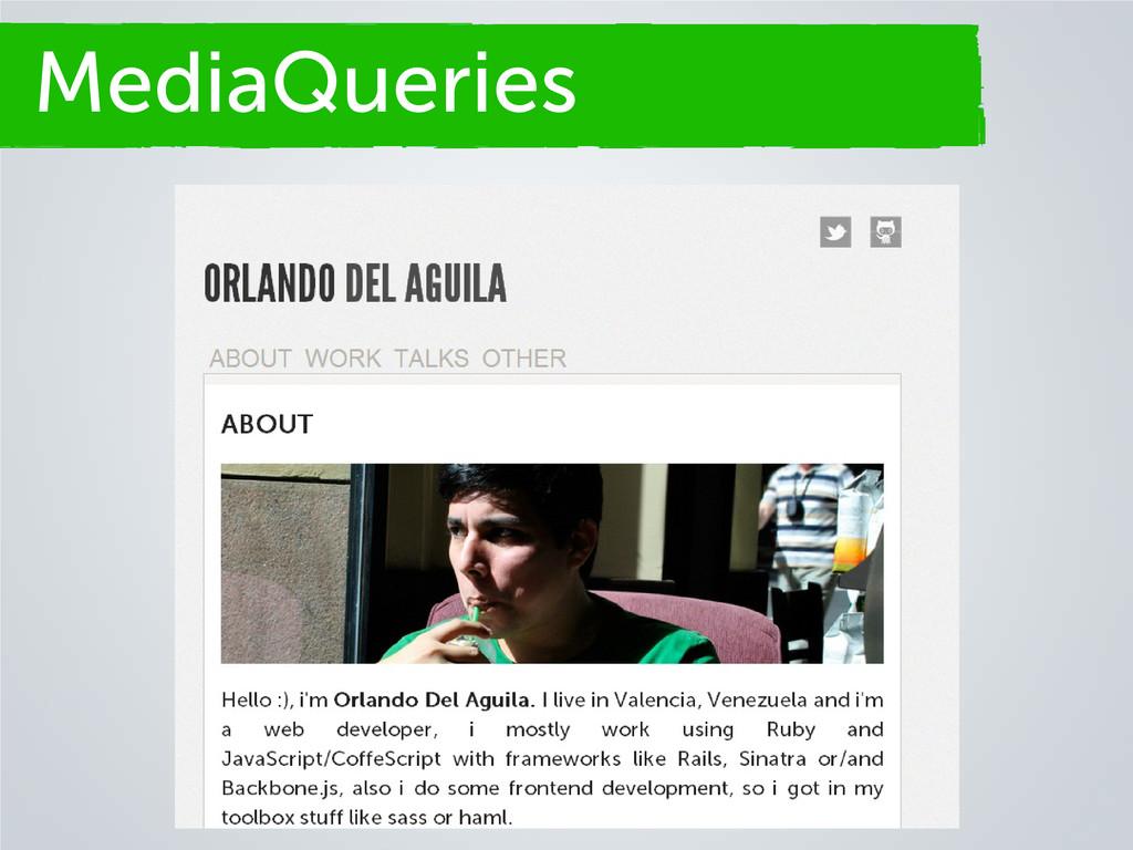 Secciones MediaQueries