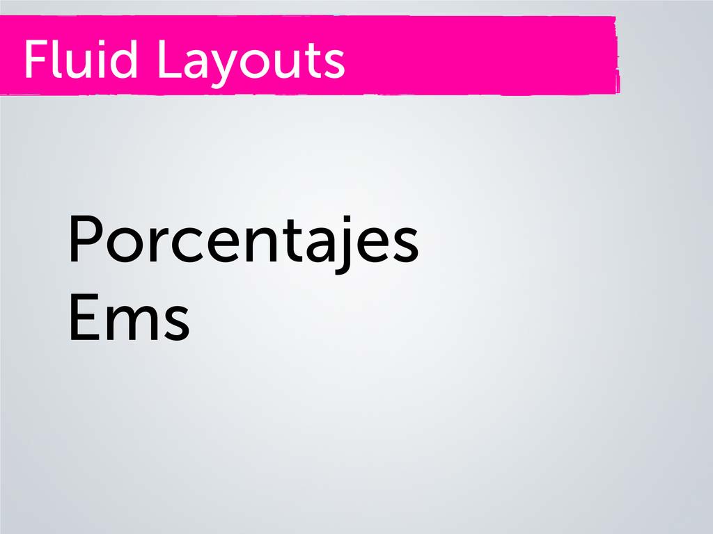 Fluid Layouts Porcentajes Ems