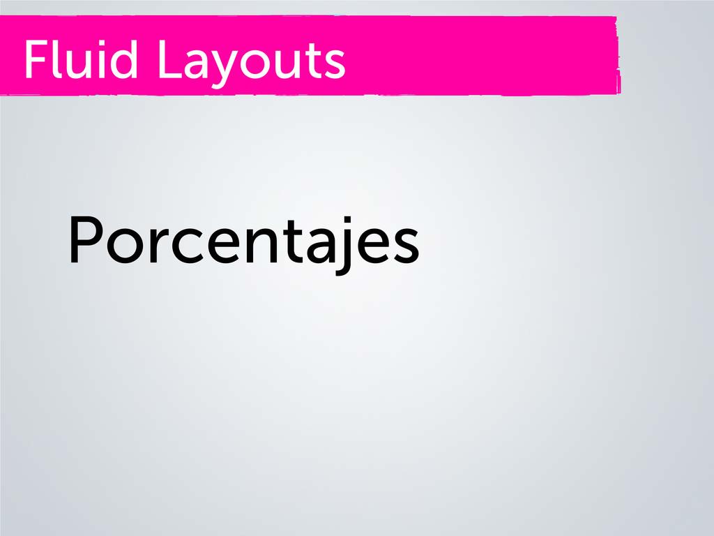 Fluid Layouts Porcentajes