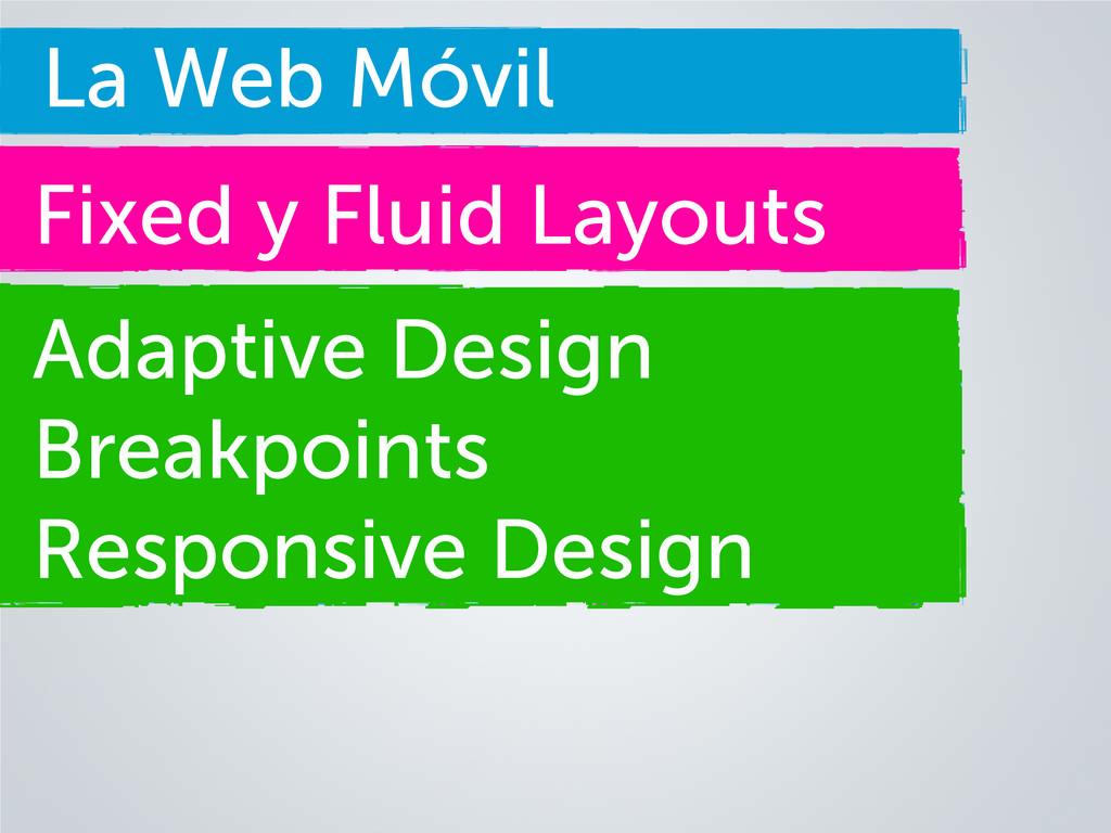 La Web Móvil Fixed y Fluid Layouts Adaptive Des...
