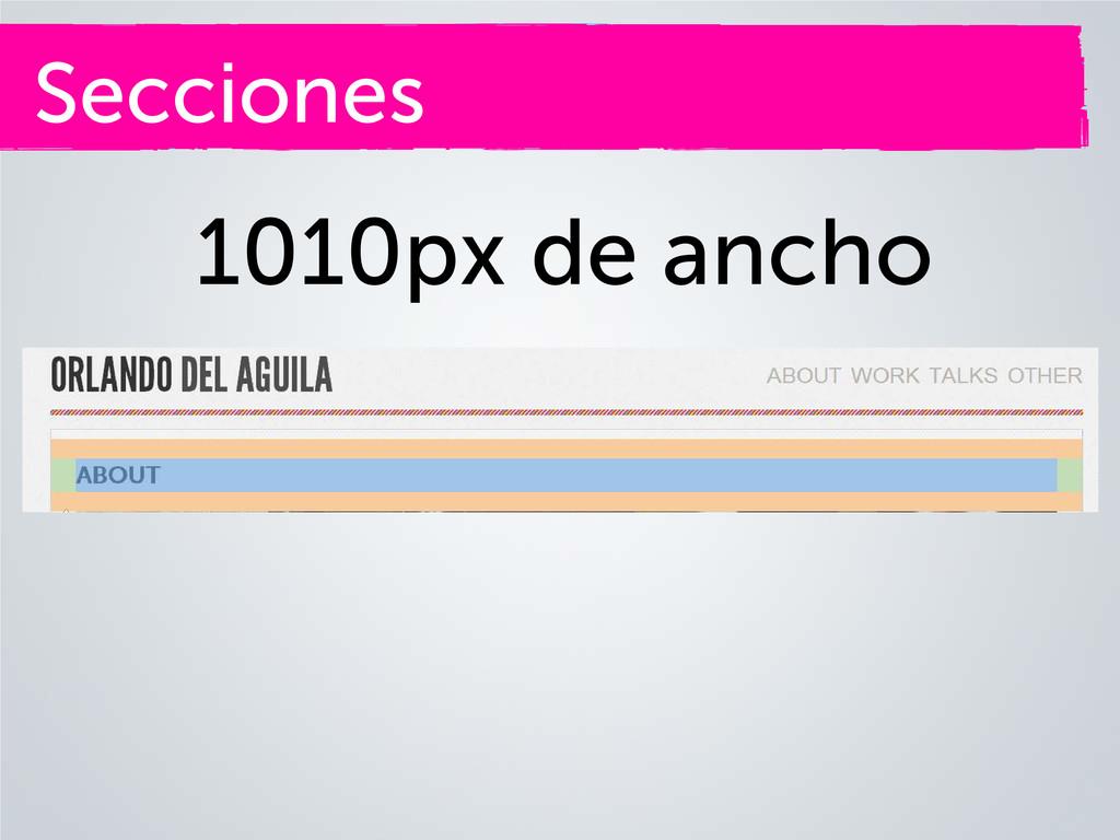 Secciones 1010px de ancho