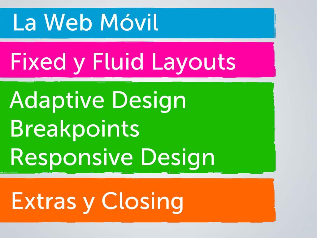 Extras y Closing La Web Móvil Fixed y Fluid Lay...