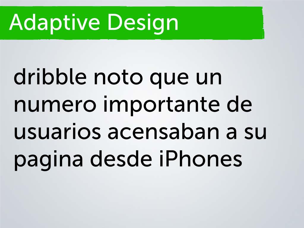 Adaptive Design dribble noto que un numero impo...