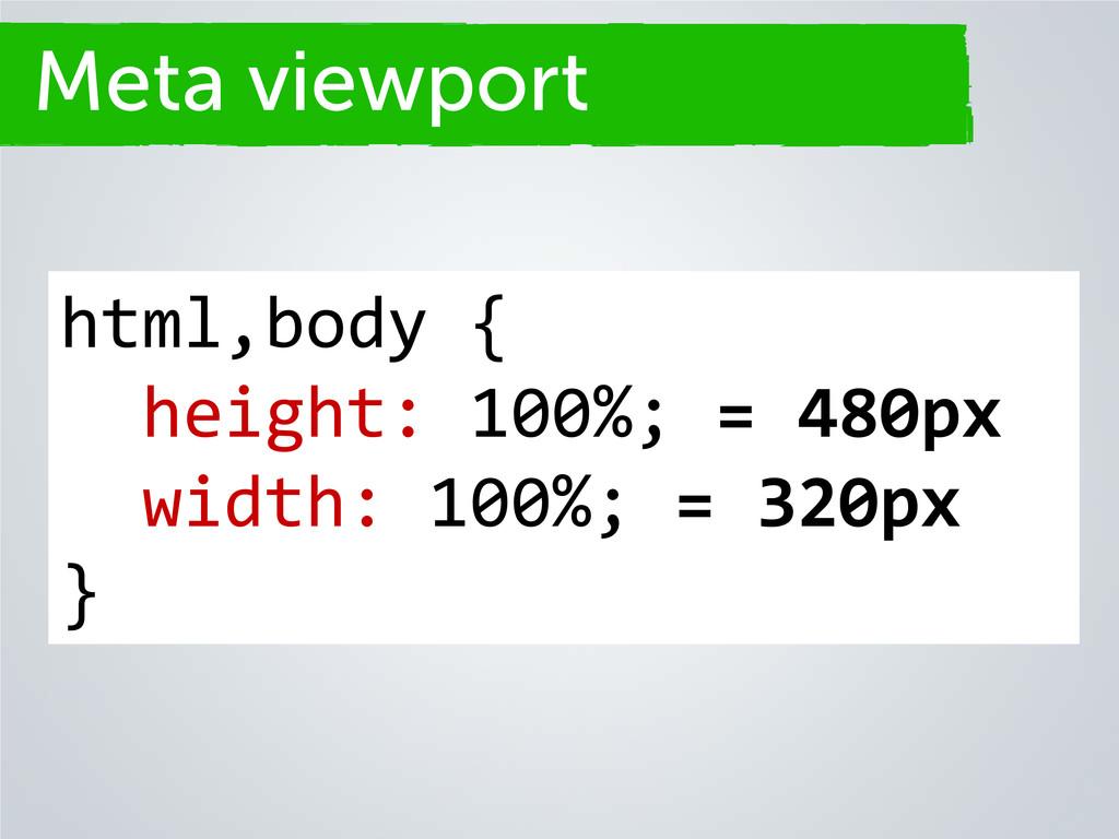 Secciones html,body { height: 100%; = 480px wid...