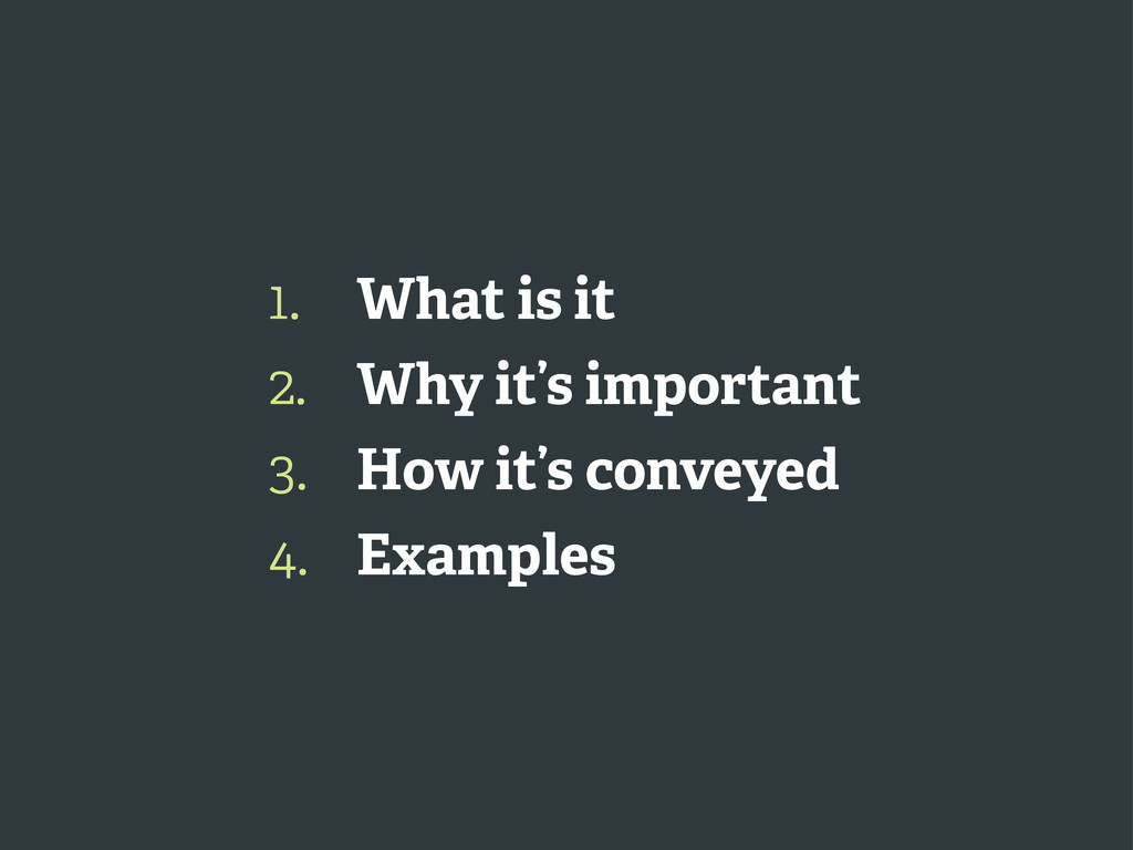 1. 2. 3. 4. What is it Why it's important How i...