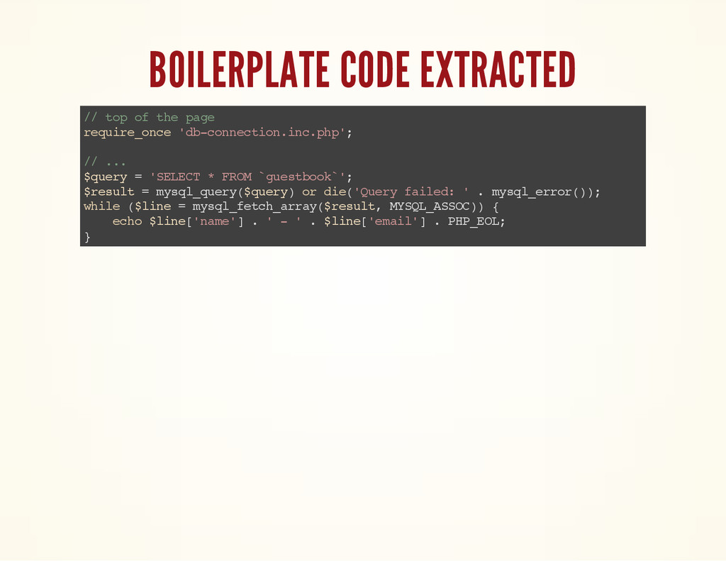 BOILERPLATE CODE EXTRACTED / / t o p o f t h e ...