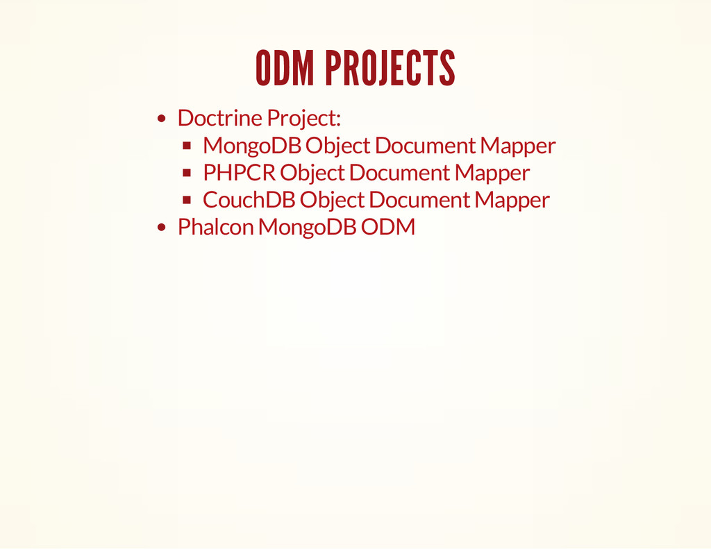 ODM PROJECTS : Doctrine Project MongoDB Object ...