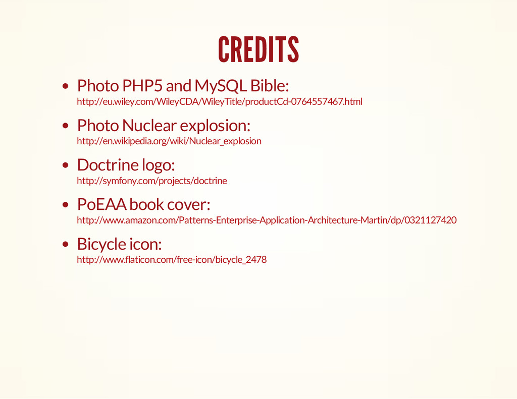 CREDITS Photo PHP5 and MySQL Bible: Photo Nucle...