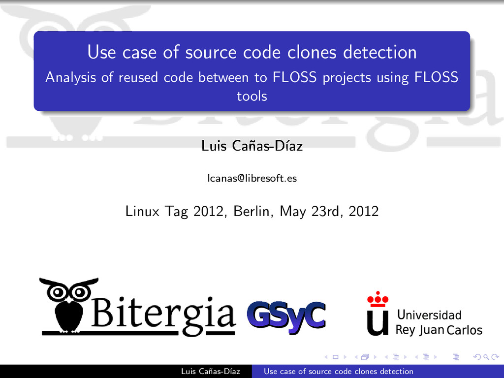 Use case of source code clones detection Analys...