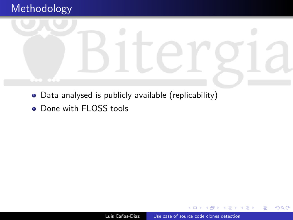 Methodology Data analysed is publicly available...