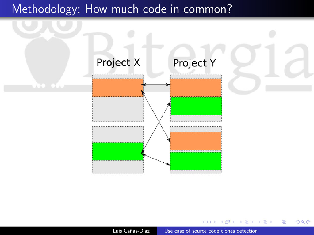 Methodology: How much code in common? Luis Ca˜ ...