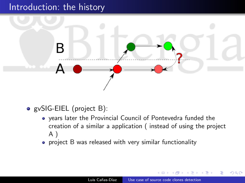 Introduction: the history gvSIG-EIEL (project B...