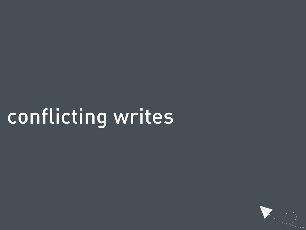 conflicting writes