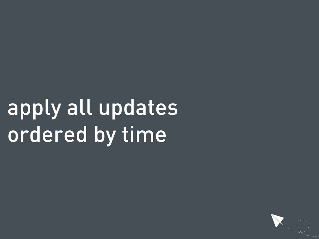 apply all updates ordered by time