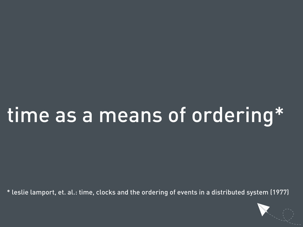 time as a means of ordering* * leslie lamport, ...