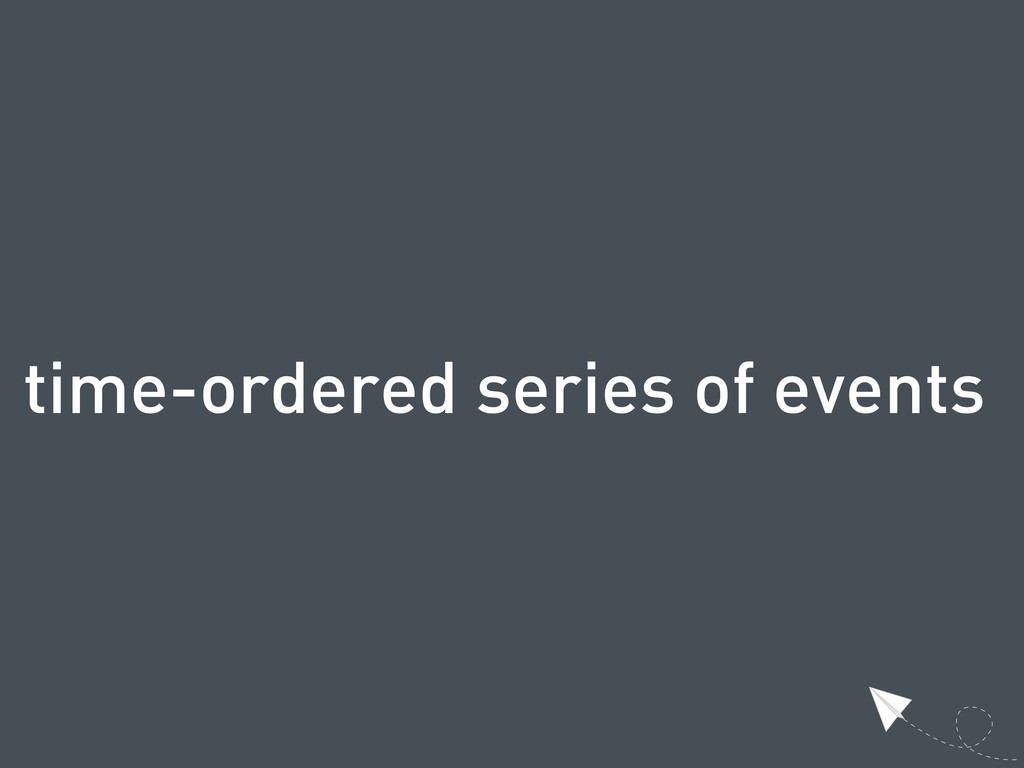 time-ordered series of events