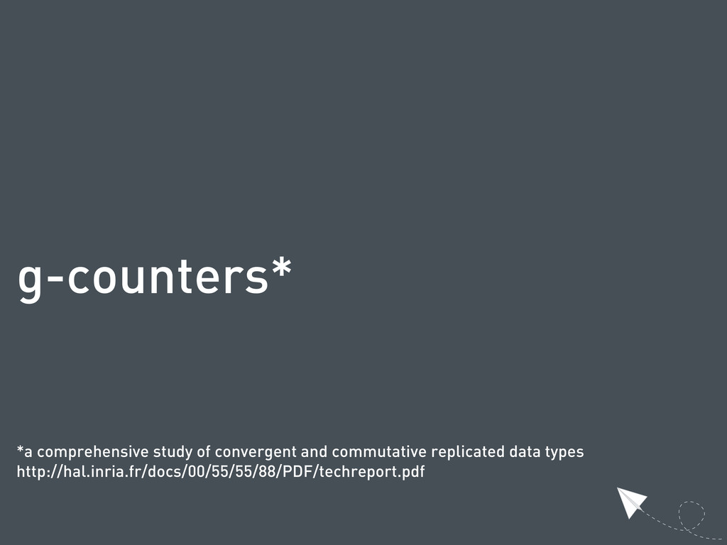 g-counters* *a comprehensive study of convergen...