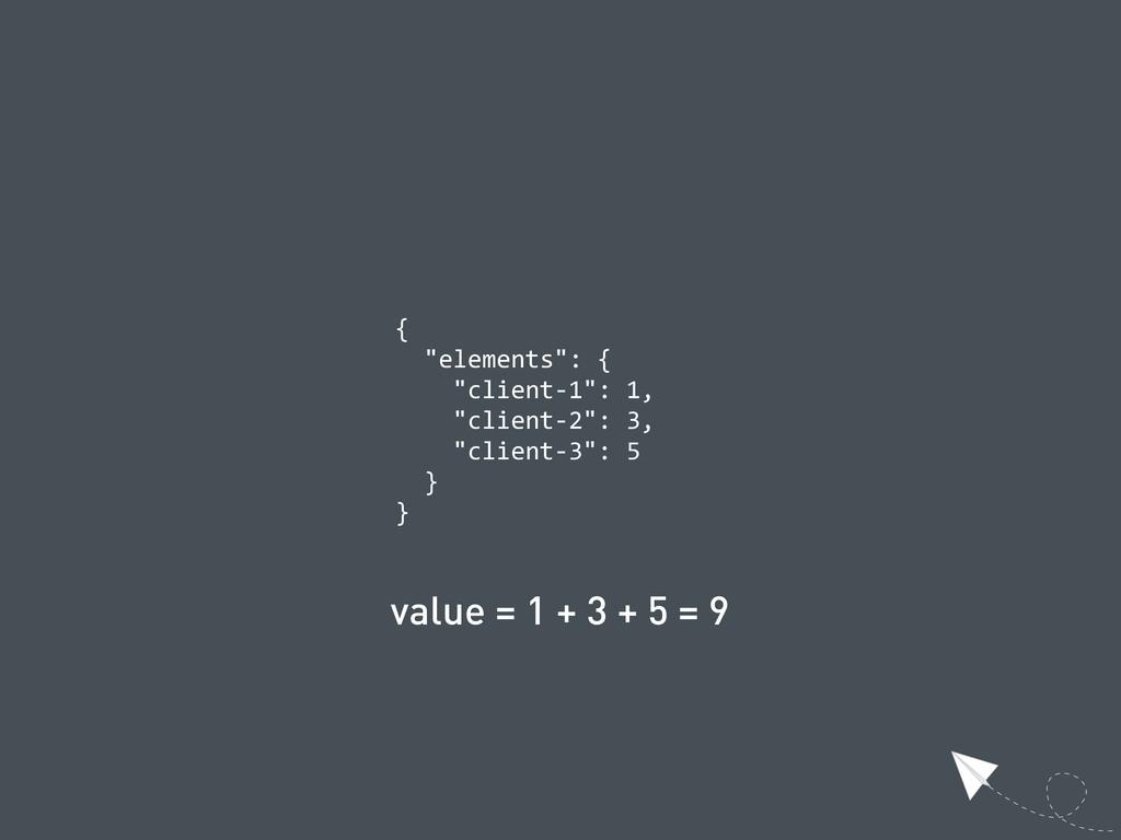 """{   """"elements"""": {     """"client-‐1"""": 1, ..."""