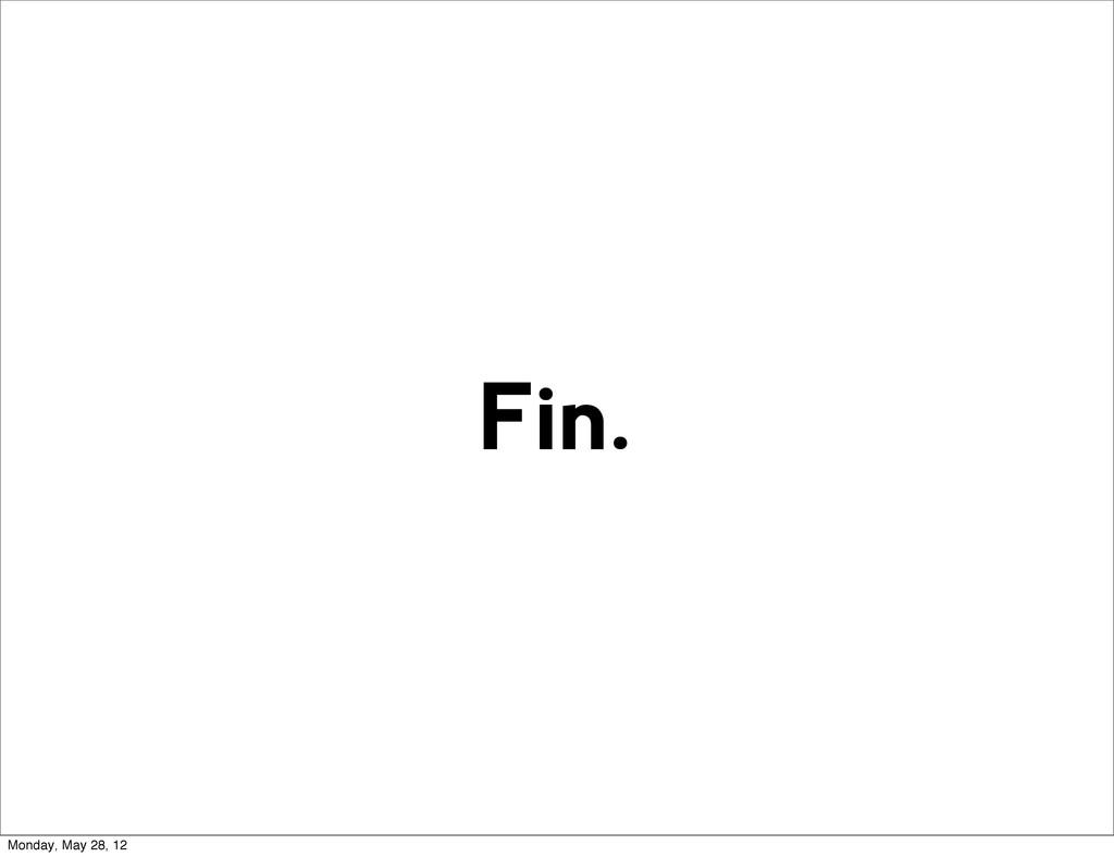 Fin. Monday, May 28, 12