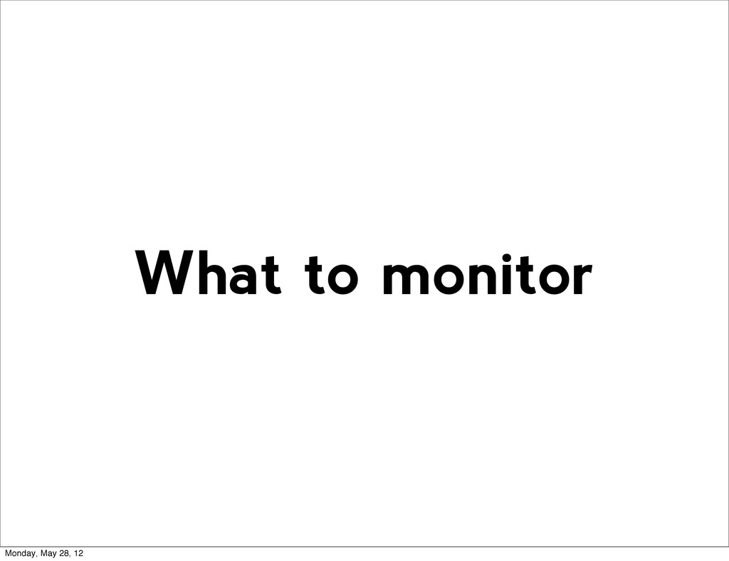 What to monitor Monday, May 28, 12