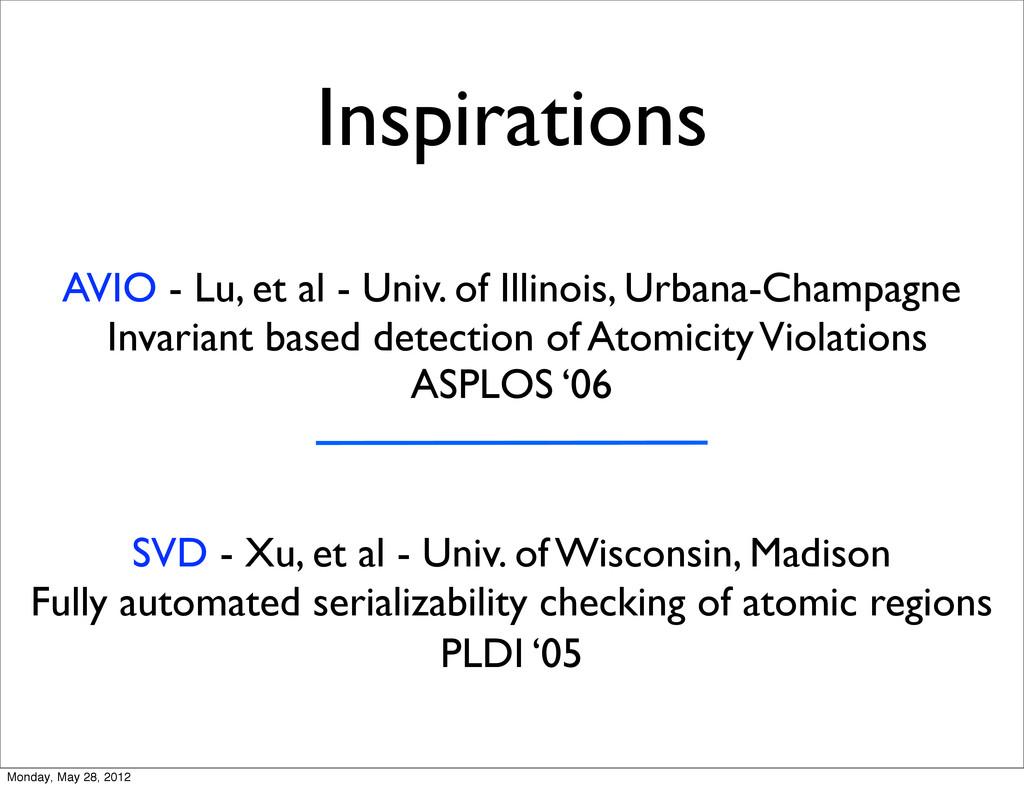 Inspirations AVIO - Lu, et al - Univ. of Illino...